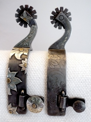 HANDMADE UNIQUE SPURS MADE BY NICK CUNNINGHAM....want some someday, not by this guy, but I do want some!