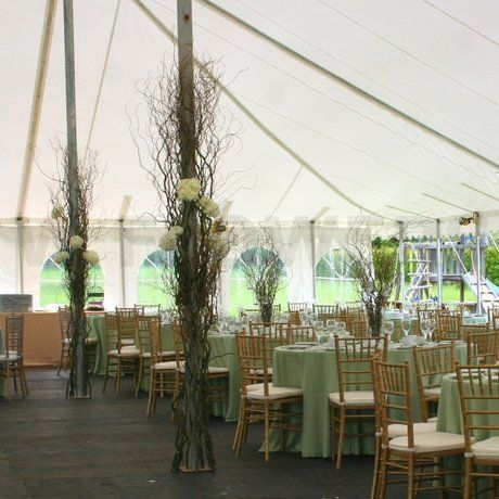 Great look for a tented wedding.