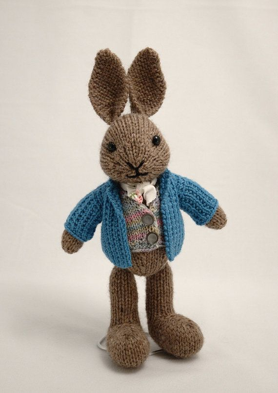 Peter Rabbit Knitting Pattern Download : Well dressed bunny knitting pattern patterns