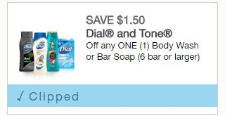 6 Bars of Tone Soap for $2.38 at Walmart