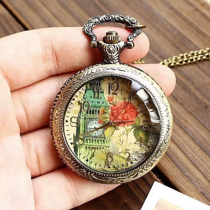 Jiangyuyan Free Shipping Wholesale Hot Sale Fashion Flower Bell Tower High Quality Pocket Watches Women Vine(INTL) | Lazada PH