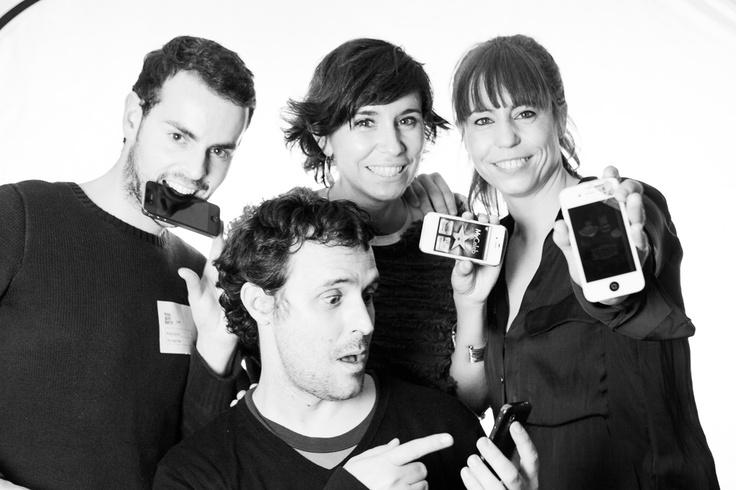 Pablo, Milena, Ele y Borja de The App Date en el último evento de 2012