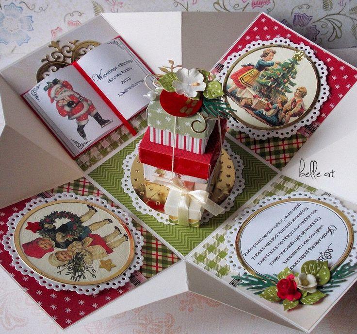 belle art, Christmas exploding box