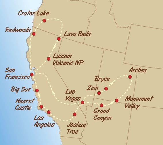 Best Road Trip Map Ideas On Pinterest Rv Usa Driving Route - Us map showing national parks