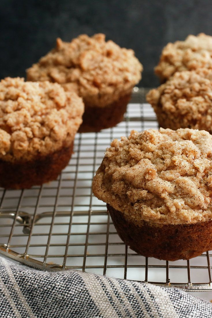 A hearty loaf of banana bread is an excellent way to use up a pile of leftover bananas, but sometimes you want a lighter option. These tender banana muffins are crowned with a delightfully crunchy cinnamon crumb topping that lends to their addictive nature. This easy recipe doesn't require any special equipment – just a couple of bowls and a mixing spoon. (Craig Lee for The New York Times)