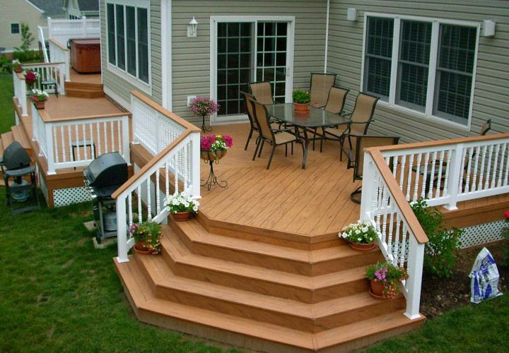 It is great to build a deck for your mobile house especially if the area is surr… – Jenny Millwood