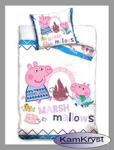 I również coś dla najmłodszych z małą Świnką Peppą - pościel do łóżeczka 100 x 135 cm - zapraszamy na strony sklepu.