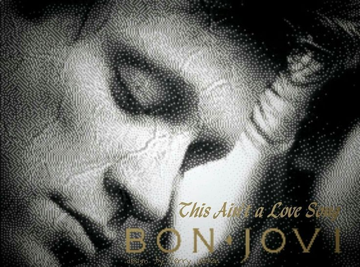 """greenlinedesign: """"""""This Ain't a Love Song """"(from these days album)….bonjovi 1995…#bonjovi #thesedays #album #thisaintalovesong #song #hardrock #heavymetal #glammetal #poprock #softrock #rockballads..."""