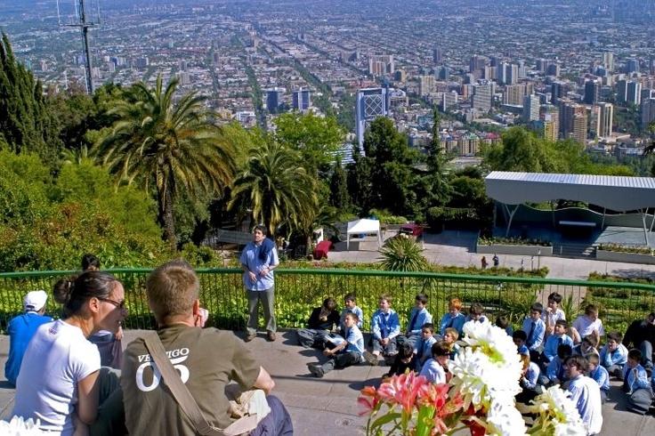 Santiago de Chile, overlooking 'Sanhatten'.