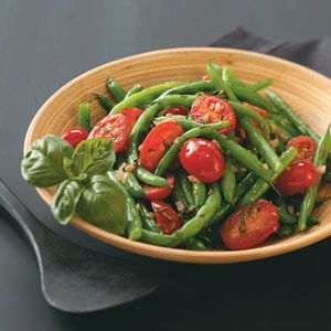 Green Beans Provencale Recipe from Paula Wharton in El Paso, Texas — from Healthy Cooking magazine