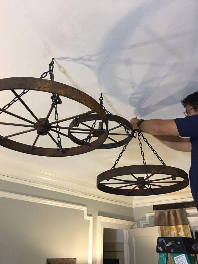 25 best ideas about Wheel chandelier on Pinterest