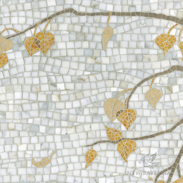 name aspen style branch product number cb1003aspen 19x19 description aspen a natural stone hand cut mosaic is shown in calacatta - Fantastisch Mosaik Flie