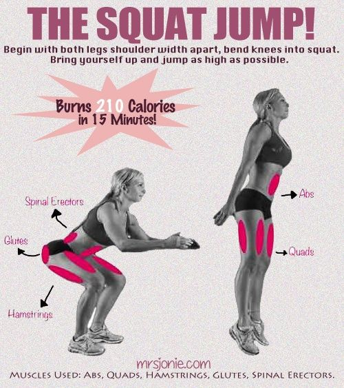 The Jump Squats!....I'm not doing this for 15 minutes lol but two sets of 15....ohhhh yeah!