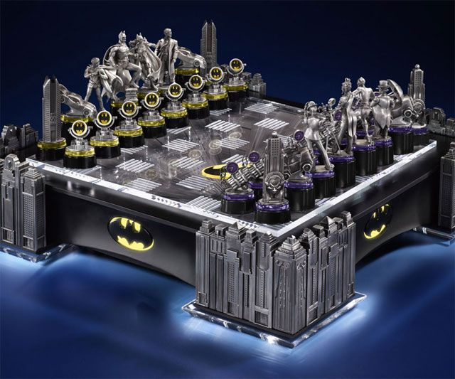 I don't play chess and I can take it or leave it when it comes to Batman, but this Batman Chess Set is awesome. $800 though.