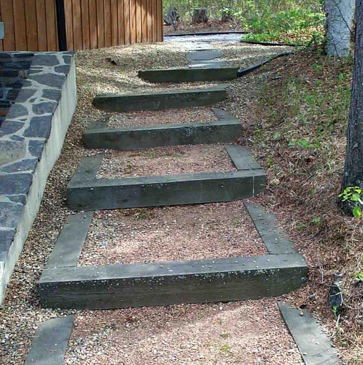 Railroad Tie Stairs Deer Lake Ideas Pinterest Lakes