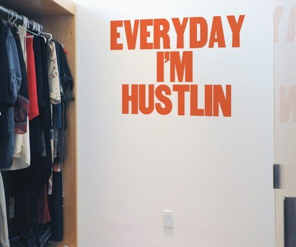 Hustlin for paper jam press and blik wall decals songs typography and miami - Blik wall stickers ...