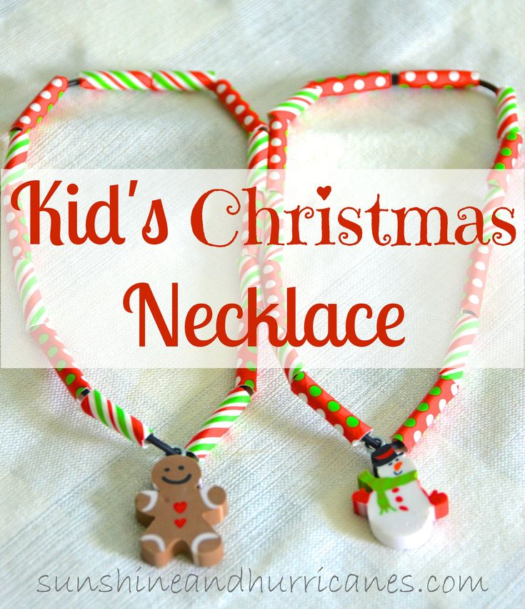The Kid's Christmas Necklace is an easy craft for kids, great class, girl scout, Awana, church activity for the holidays. Inexpensive and simple.