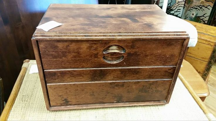 Lovely #antique bread box, $17 #collingwood #collectors #homedecor #kitchen #cottage #rustic #shoplocal #consignment
