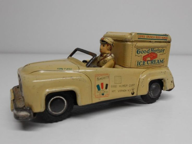 Vintage Linemar Good Humor Ice Cream Car tin friction made in Japan