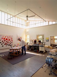 Artists Home Studios Modern Office New York By Barrett Studio Architects Clever Track Lighting Idea Art Pinterest