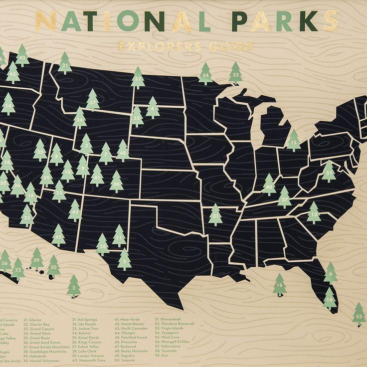 National Park Screen Print