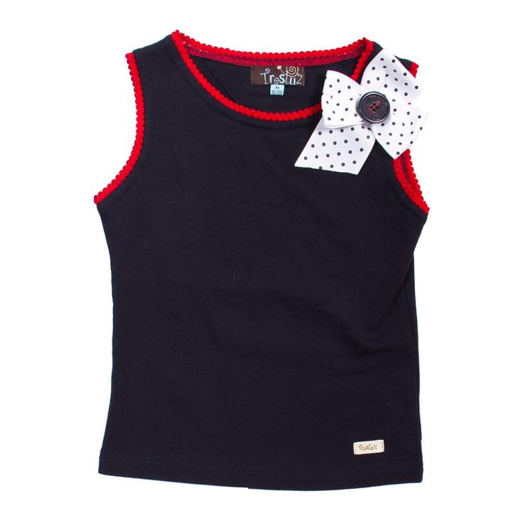 Camiseta niña ondulina con lazo