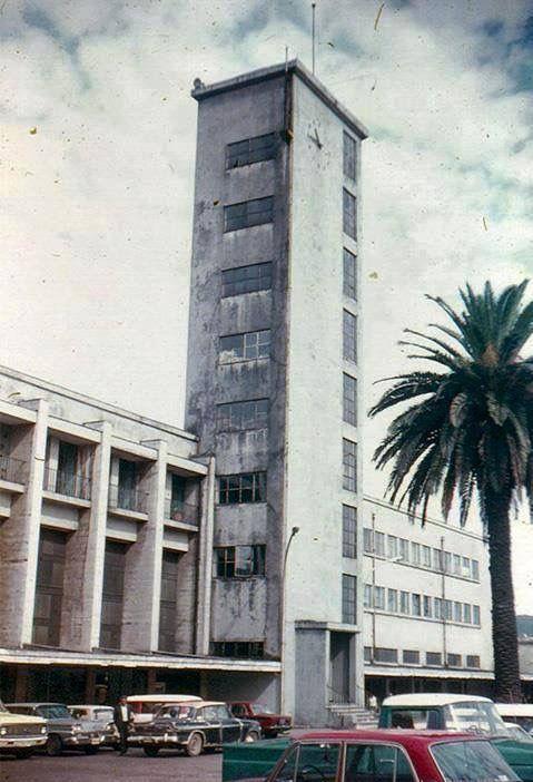 Estación de trenes de la ciudad de Concepción, 1974
