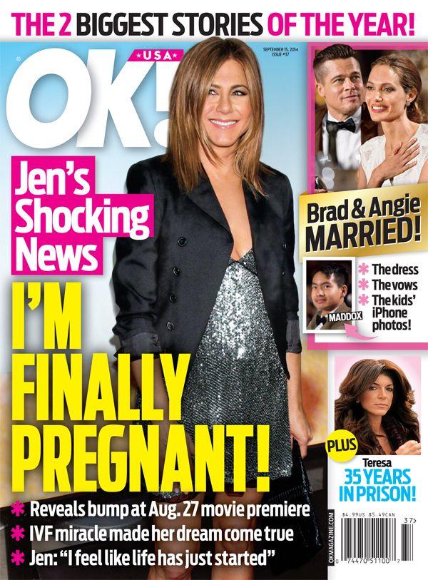 OK Magazine Cover Story – Is Jennifer Aniston Pregnant?   OK! Magazine