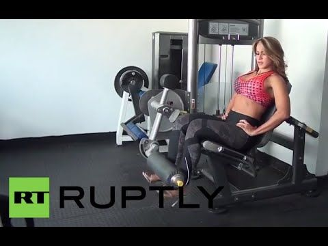 Venezuelan bodybuilder Elvimar Sanchez was busy at a gym in Caracas on Thursday, wearing her favourite pair of heels as she lifted weights.