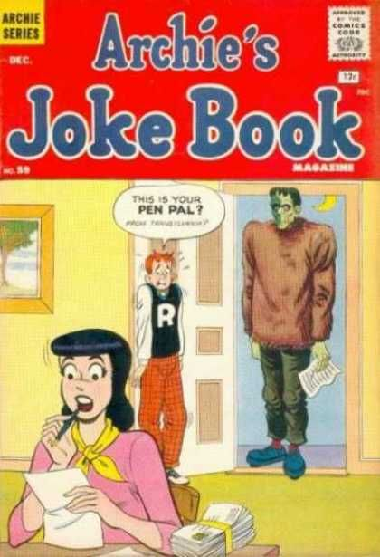 Archie's Joke Book 59>>>I want a pinpal from Transylvania.