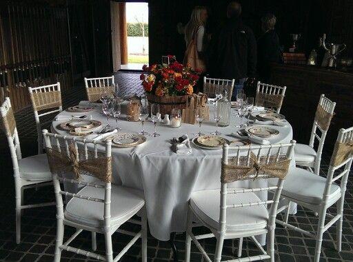 Rustic tablescape idea, sydney polo club wedding expo.