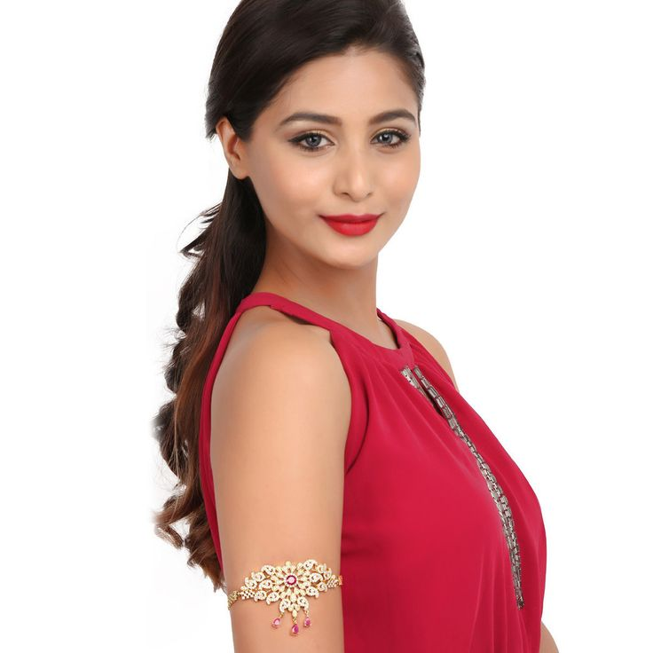 Zircon Bajuband 56956R #Kushals #Jewellery #Fashion #Indian #Jewellery #Wedding #Accessories #BajuBand #Zircon #Festive