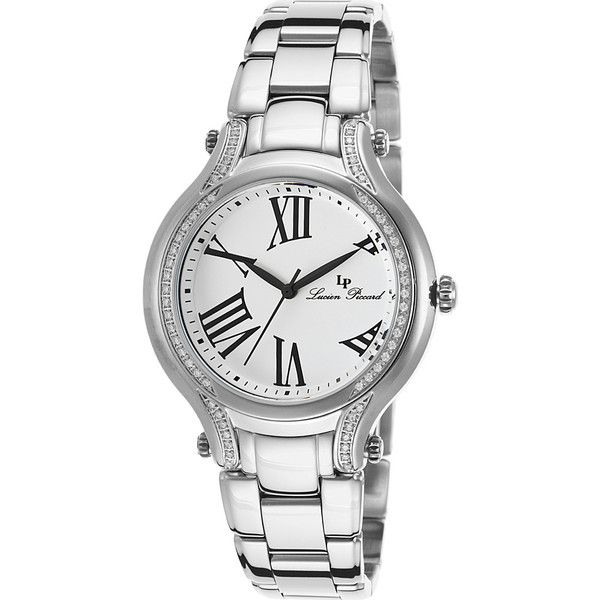 Lucien Piccard Watches Elisia Stainless Steel Watch ($98) ❤ liked on Polyvore featuring jewelry, watches, metalic, lucien piccard jewelry, lucien piccard watches, stainless steel jewelry, lucien piccard and stainless steel jewellery