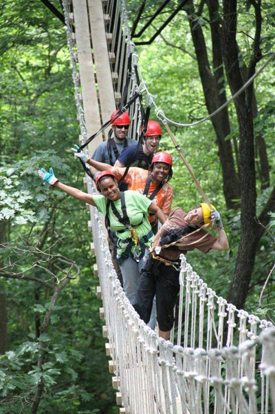 2.} Just an hour or so outside of Atlanta, Oconee Canopy tours lets you fly like a bird — or a plane - or safety bridge enthusiast...