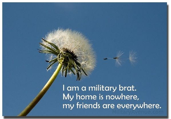 Pin this if you are a proud Military Brat