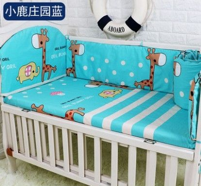 42.80$  Buy here - http://aliuyt.shopchina.info/1/go.php?t=32691457198 - Promotion! 5PCS Baby crib bedding set kids bedding set newborn baby bed set,include:(bumpers+sheet)  #magazine