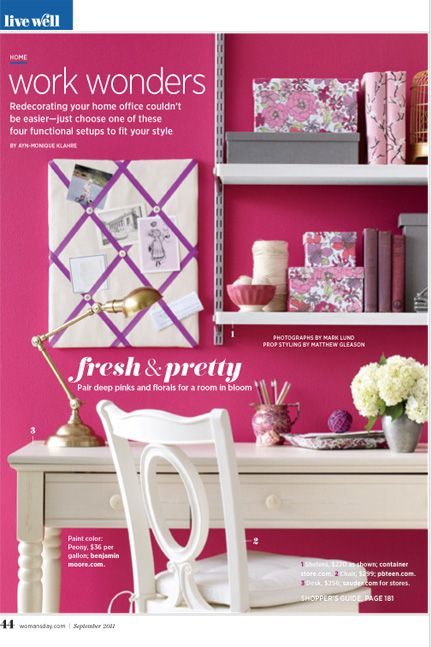 15 best Pink Office images on Pinterest | Offices, Pink office and ...