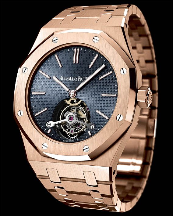 La Cote des Montres : La montre Audemars Piguet Tourbillon Royal Oak Extra-plat - 41mm - Sobriété et pureté du cadran