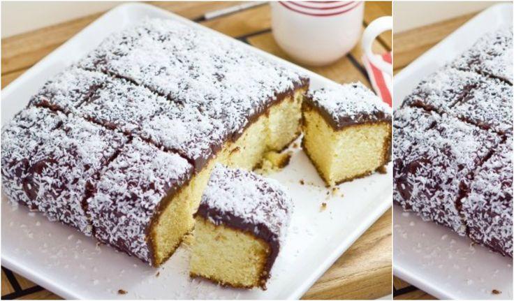 Πανεύκολο κέικ με επικάλυψη σοκολάτας & ινδοκάρυδου !!!