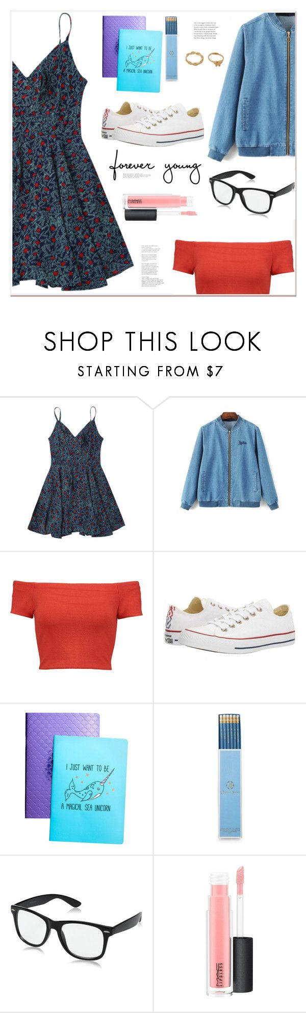 """Forever young"" by mycherryblossom ❤ liked on Polyvore featuring Alice + Olivia, Converse, Draper James and MAC Cosmetics"