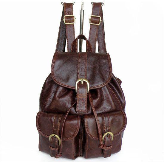Pequeñas mochilas de cuero para mujer Bolso de escuela con estilo del vintage [JM93169] - €63.00 : bzbolsos.com, comprar bolsos online