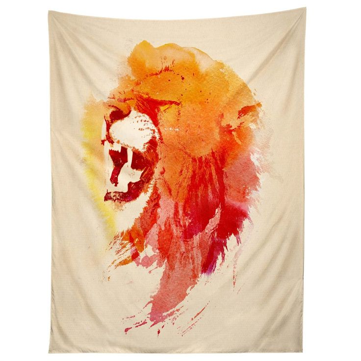 Robert Farkas Angry Lion Tapestry | DENY Designs Home Accessories