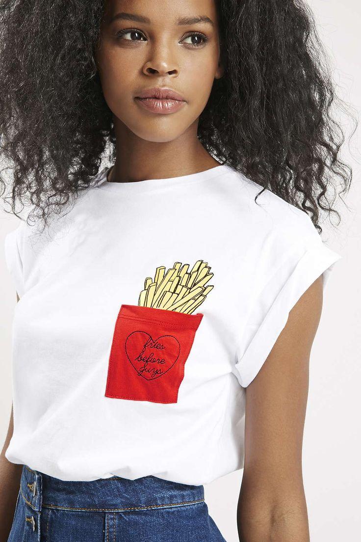 Fries Before Guys Pocket Tee