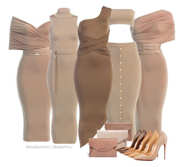 """JLUXBASIX neutrals"" by efiaeemnxo ❤ liked on Polyvore featuring Givenchy, Christian Louboutin, sbemnxo and styledbyemnxo"