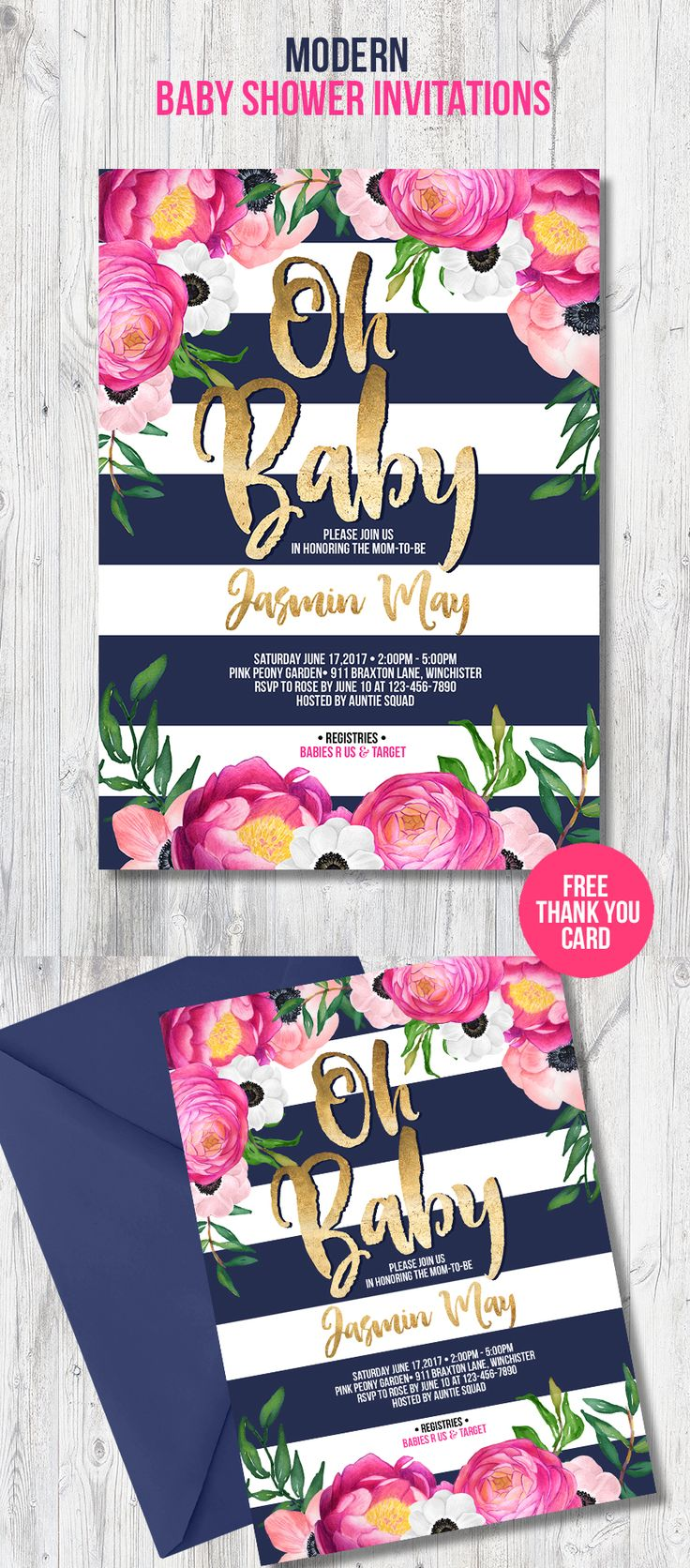 Best 25 Baby shower invites for girl ideas – Garden Party Baby Shower Invitations