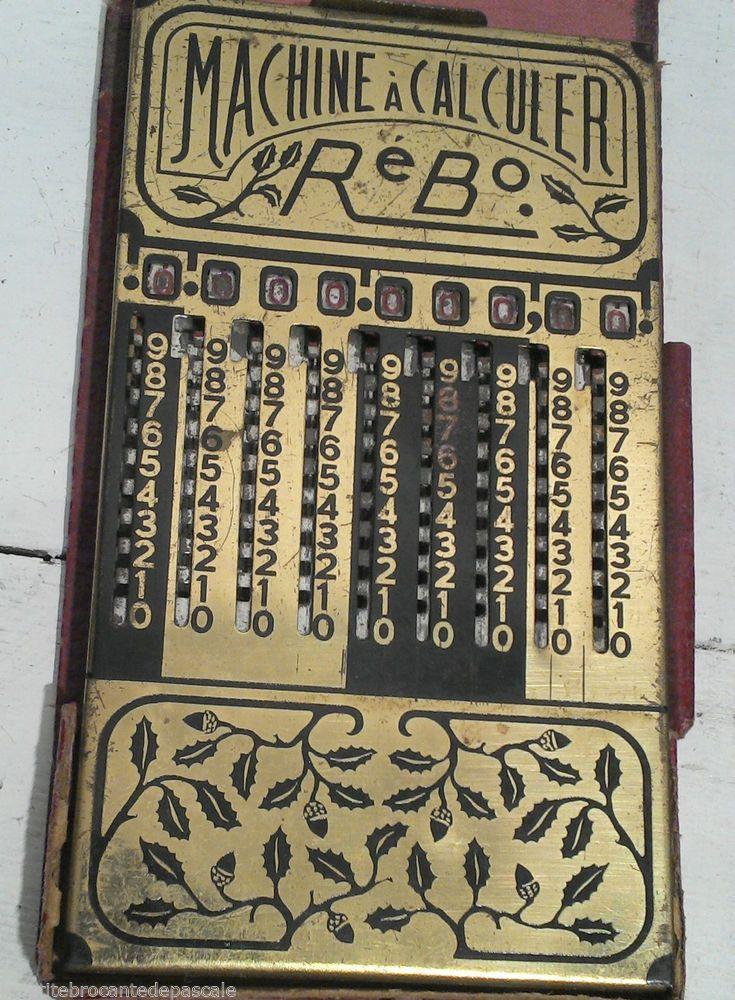 ancienne machine à calculer pliante de marque rébo instrument mathématique in Collections, Sciences, médecine, mesure, Instruments de mesure | eBay