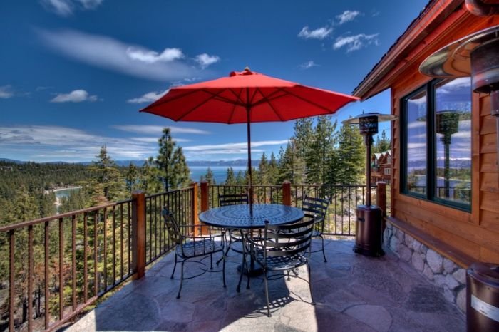 Breakfast on the deck | Inspiration Point | Meeks Bay, CA | Tahoe Luxury Properties