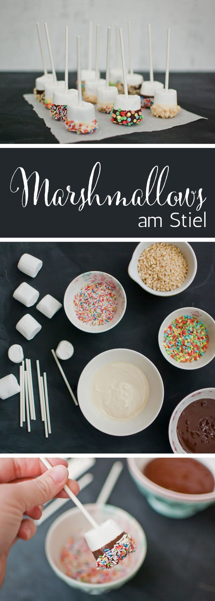 Leckere & einfache Marshmallows am Stiel von {nifty thrifty things}