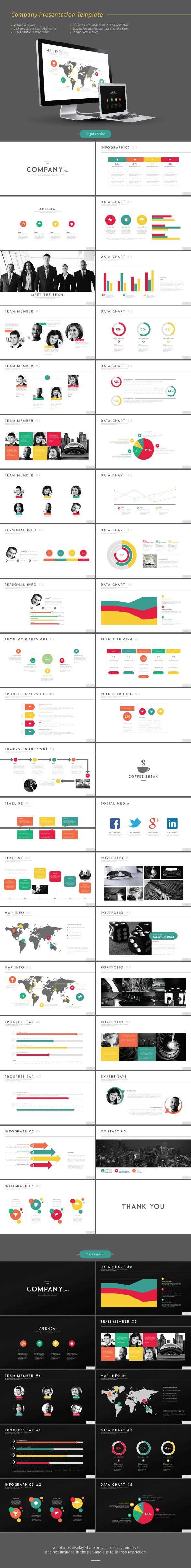 Company Presentation PowerPoint Template #powerpoint #powerpointtemplate #presentation Download: http://graphicriver.net/item/company-presentation-template/8916659?ref=ksioks