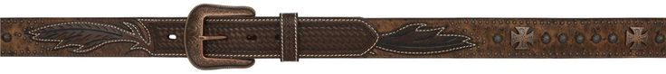 3D 1 1/2 Chocolate Brown Men's Western Fashion Belt [1094] : Boots & More Top Notch Boots, At Rock Bottom Prices